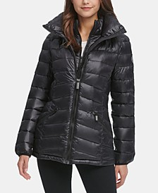 Hooded Packable Down Puffer Coat
