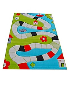 """Playway Soft Nursery Rug with a Playful Design for Kids Bedrooms and Playrooms - 72""""L x 53""""W Playmat"""