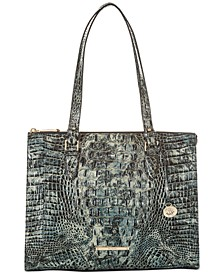 Anywhere Melbourne Embossed Leather Tote