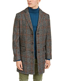 INC Men's Logan Plaid Topcoat, Created For Macy's