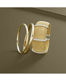 Diamond Cuff Bracelet (1/2 ct. t.w.) in 14k Gold-Plated Sterling Silver
