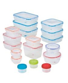 Lock n Lock Easy Essentials™ Color Mates™ 36-Pc. Food Storage Container Set