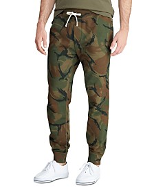 Polo Ralph Lauren Men's Big & Tall Camo Cotton-Blend-Fleece Jogger Pants