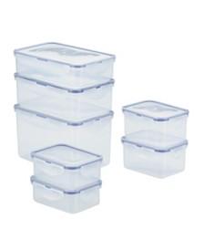 Lock n Lock Easy Essentials™ Rectangular 14-Pc. Food Storage Container Set