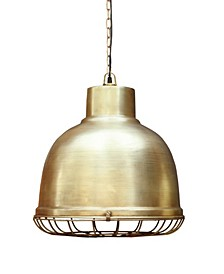 Industry Pendant with Iron Nautical Wire Mesh in Brushed Retro Finish 25 Watt