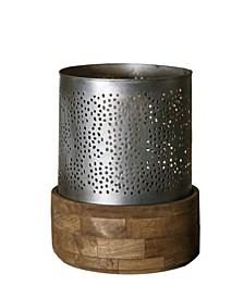 """Jaali Hurricane 3"""" Dia Candle Holder Stand in Brushed Retro Rich Look"""