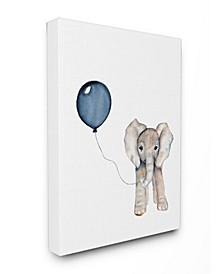 "Baby Elephant with Blue Balloon Canvas Wall Art, 16"" x 20"""