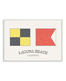 """Laguna Beach Nautical Flags Wall Plaque Art, 10"""" x 15"""""""