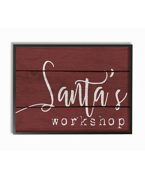 """Stupell Industries Santa's Workshop Framed Giclee Art, 16"""" x 20"""""""