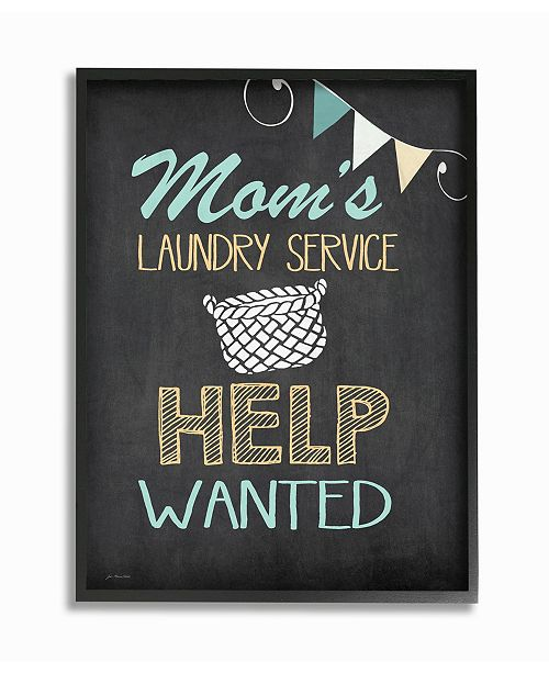 """Stupell Industries Mom's Laundry Service Help Wanted Framed Giclee Art, 11"""" x 14"""""""