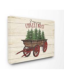 Merry Christmas Tree Wagon Art Collection