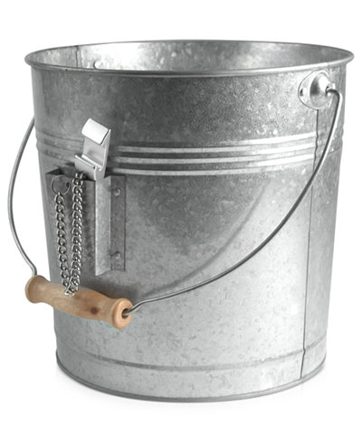 Artland Oasis Galvanized Tin Beverage Pail with Bottle Opener