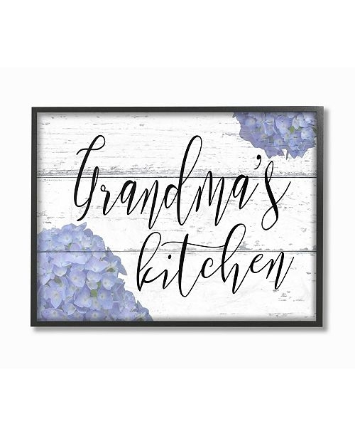 "Stupell Industries Grandma's Kitchen Hydrangeas Framed Giclee Art, 11"" x 14"""
