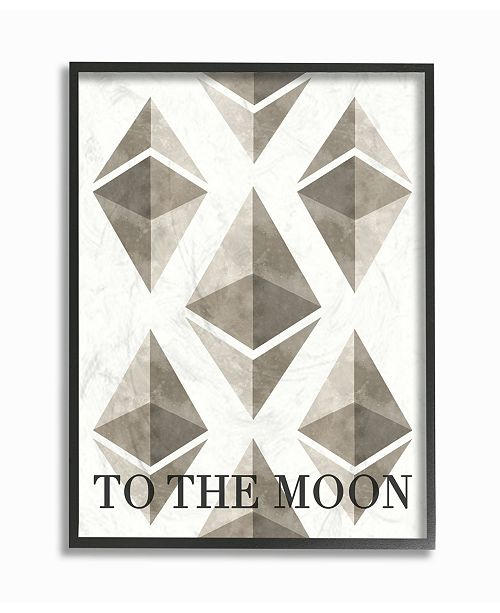 """Stupell Industries Ethereum To The Moon Framed Giclee Art, 11"""" x 14"""""""