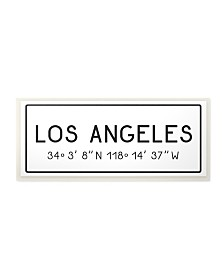"Stupell Industries Plate City Coordinates Los Angeles Wall Plaque Art, 7"" x 17"""