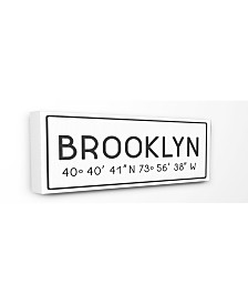 "Stupell Industries Plate City Coordinates Brooklyn Canvas Wall Art, 10"" x 24"""