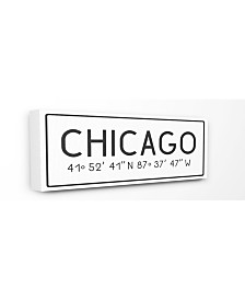 "Stupell Industries Plate City Coordinates Chicago Canvas Wall Art, 10"" x 24"""