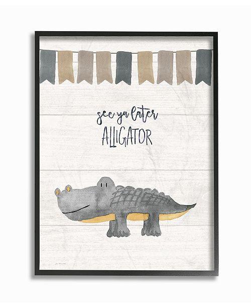 "Stupell Industries See Ya Later Alligator Framed Giclee Art, 16"" x 20"""
