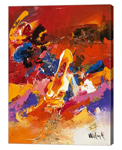 "Metaverse Abstract Orange Summer 2 by William Malucu Canvas Art, 26"" x 36"""