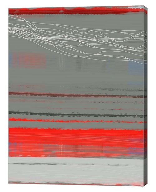 "Metaverse Abstract Red 2 by Naxart Canvas Art, 27"" x 36"""