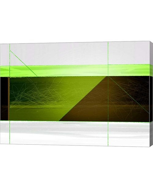 """Metaverse Abstract Brown and Green by Naxart Canvas Art, 28.25"""" x 20"""""""