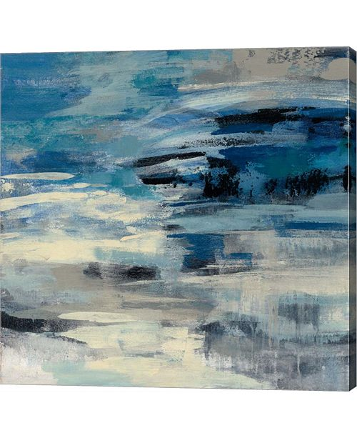 "Metaverse Indigo Wave by Silvia Vassileva Canvas Art, 28.5"" x 28"""