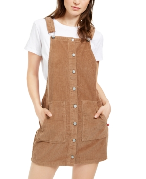 Dickies Cotton Corduroy Overall Dress In Brown