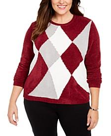 Plus Size Classics Colorblocked Chenille Sweater