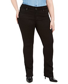 Seven7 Plus Size Tummyless Slim Bootcut Jeans