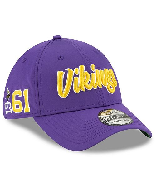 New Era Minnesota Vikings On-Field Sideline Home 39THIRTY Cap