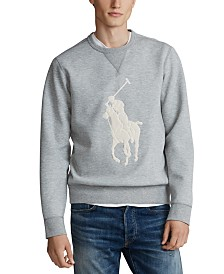 Polo Ralph Lauren Men's Double-Knit Big Pony Crew Neck Sweatshirt