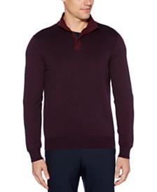 Perry Ellis Men's Quarter-Zip Sweater