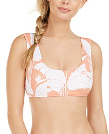 Juniors' Beach Classics Printed Bralette Bikini Top