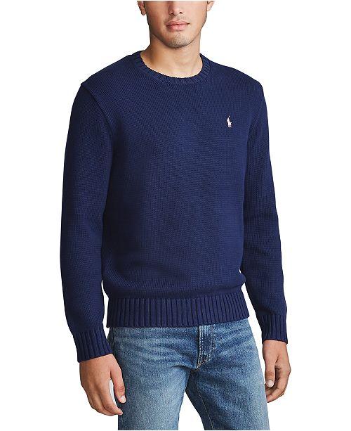 Polo Ralph Lauren Men's Pink Pony Cotton Sweater