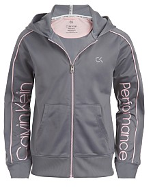 Calvin Klein Performance Big Girls Zip-Up Hoodie