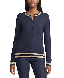 Lauren Ralph Lauren Metallic-Trim Cardigan