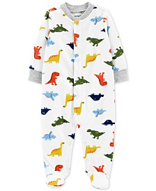 Carter's Baby Boys Dinosaurs Snap-Up Fleece Coveralls