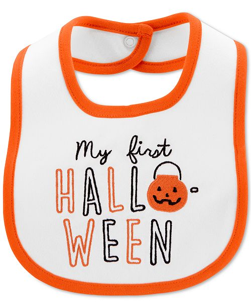 Carter's Baby Boys & Girls First Halloween Cotton Teething Bib