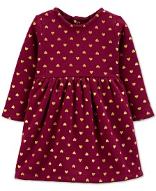 Carter's Baby Girls Heart-Print Fleece Dress