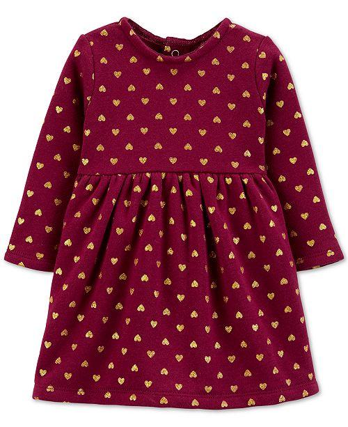 Carter's Baby Girls Heart-Print Fleece Dress