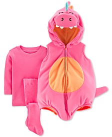 Carter's Baby Girls 3-Pc. Little Dragon Costume
