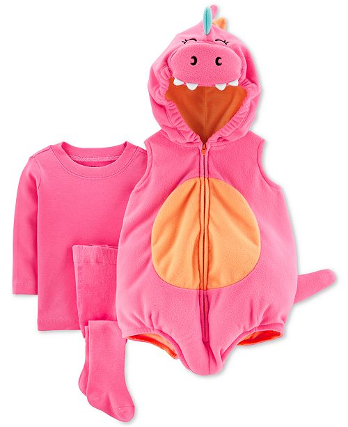 Carter's Baby Girls 3-Pc. Little Dragon Costume