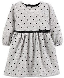 Carter's Baby Girls Dot-Print Fleece Dress