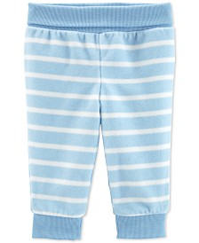 Carter's Baby Boys Striped Pull-On Fleece Pants