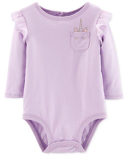 Carter's Baby Girls Unicorn Pocket Bodysuit