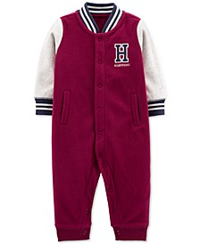 Baby Boys Varsity Fleece Jumpsuit