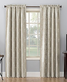 """Sun Zero Lilith 52"""" x 84"""" Embroidered Floral Blackout Curtain"""