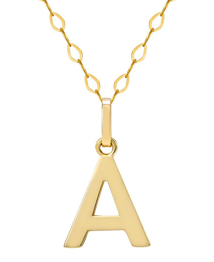 """Macy's - Initial Pendant Necklace with 18"""" Chain in 14k Yellow Gold"""