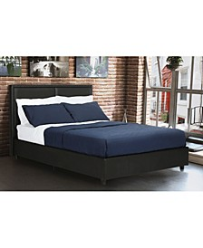 Blair Faux Leather Bed, Queen Size