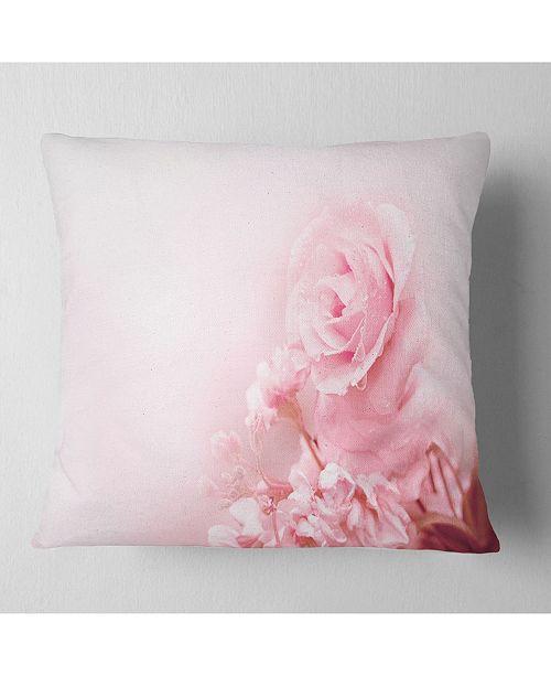 """Design Art Designart Beautiful Rose In Magic Light Portrait Throw Pillow - 18"""" X 18"""""""